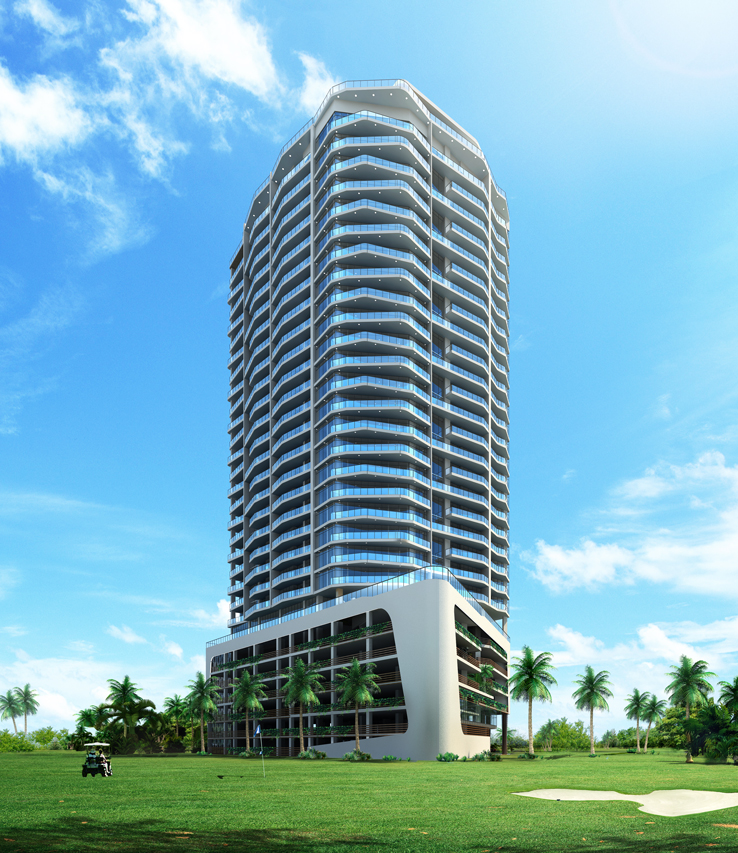 Pre-construction Beach Apartments near Golf Club in Panama