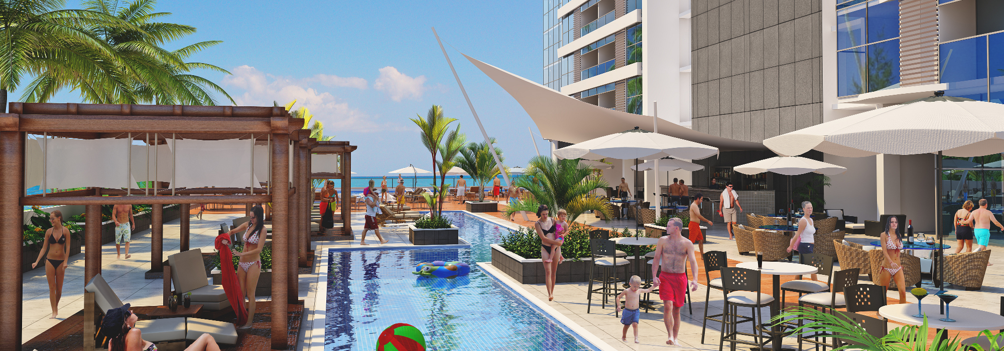 New Beach Apartments in Playa Gorgona, Panama